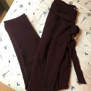 Pants - Charlotte Russe Vampire Red Burgundy Trousers